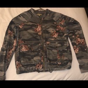 Democracy Camo Jacket with Pink/Mauve Flowers